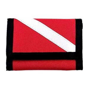 Innovative Scuba Diver Down Flag Wallet