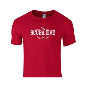Amphibious Outfitters Scuba Traditions Dive Red T-Shirt