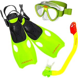 Akona Kids/Youth Snorkel Kit Travel Set