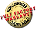 Full Factory Warranty on Scuba Gear