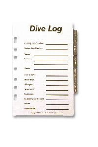 Dive Log Book Pages