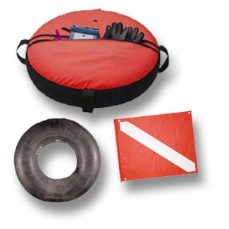 Dive Flag Float and Cover with Pole Assembly Kit