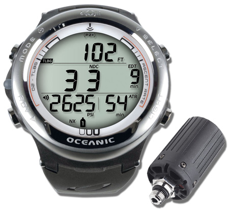 Oceanic atom 3 1 air integrated wrist dive computer for Dive computer wrist