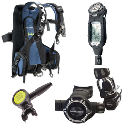 Oceanic lightweight travel package bc and reg packages - Oceanic dive equipment ...