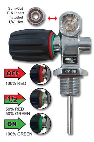 Scuba Diving Tank Valve On-Off Safety Valves Handle Grip Replacement Parts