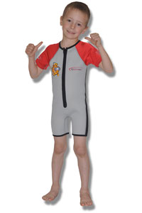 JR NeoSport 2mm Childs WetSuit With Cartoon Fish
